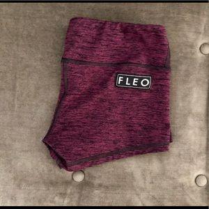 Heather purple Fleo shorts